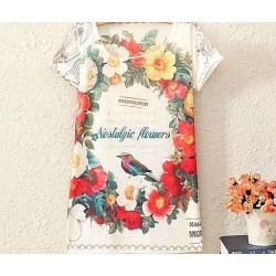 Tričko Jarní ptáček