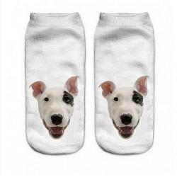 Ponožky  Černobílý pes