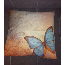 Povlak na Polštář Modrý motýl